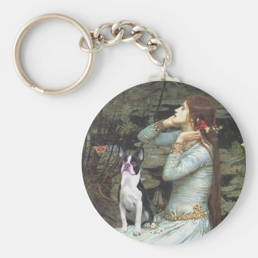 Ophelia &- Boston Terrier Keychain