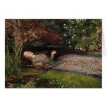 Ophelia by John Everett Millais Greeting Card