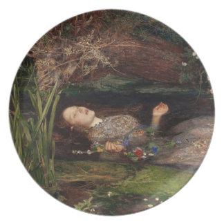 Ophelia by John Everett Millais Dinner Plate