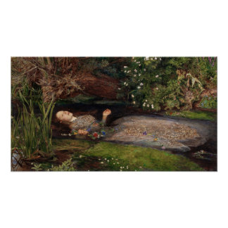 Ophelia by John Everett Millais Poster