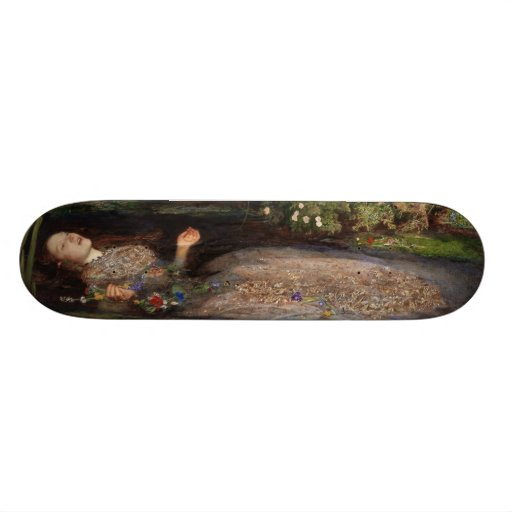 Ophelia by John Everett Millais Skateboard Decks