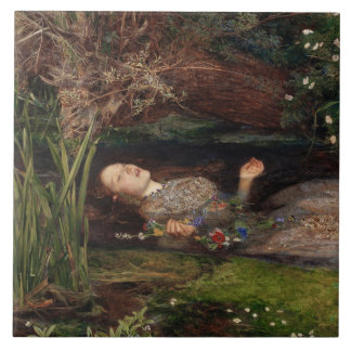 Ophelia by John Everett Millais Tile