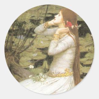 Ophelia By John William Waterhouse Classic Round Sticker