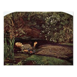 Ophelia By Millais, John Everett (Best Quality) 4.25x5.5 Paper Invitation Card