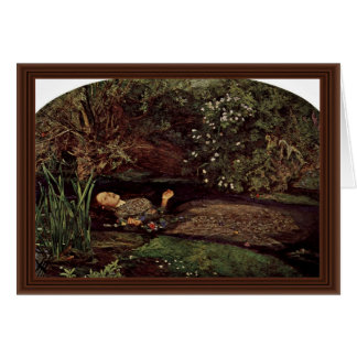 Ophelia By Millais, John Everett (Best Quality) Greeting Card