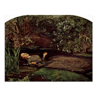 Ophelia By Millais, John Everett (Best Quality) Postcard
