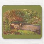 Ophelia by Millais Vintage Victorian Preraphaelite Mouse Pad