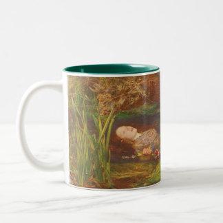 Ophelia by Millais Vintage Victorian Preraphaelite Two-Tone Coffee Mug
