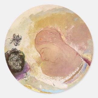 Ophelia by Odilon Redon Stickers