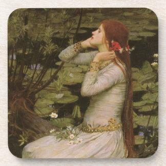 Ophelia (By The Pond) JW Waterhouse, Victorian Art Coasters