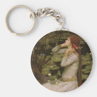 Ophelia (By The Pond) JW Waterhouse, Victorian Art Key Chain