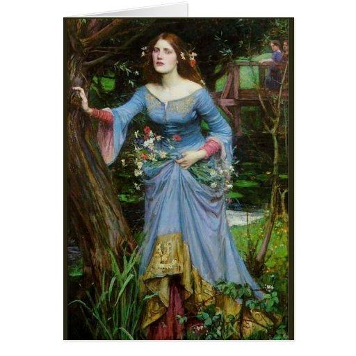 Ophelia by Waterhouse Card