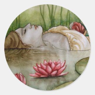 Ophelia Classic Round Sticker