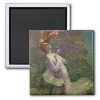 Ophelia Drowning, 1895 2 Inch Square Magnet