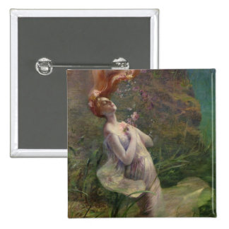 Ophelia Drowning, 1895 Button