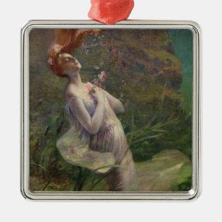 Ophelia Drowning, 1895 Metal Ornament