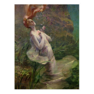 Ophelia Drowning, 1895 Postcard