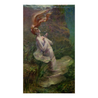 Ophelia Drowning, 1895 Poster