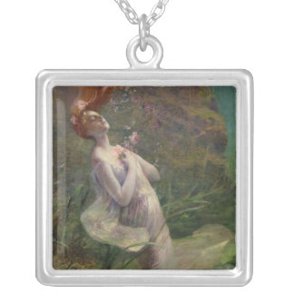 Ophelia Drowning, 1895 Silver Plated Necklace