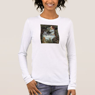 Ophelia - Grey cat Long Sleeve T-Shirt