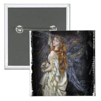 Ophelia in White Button
