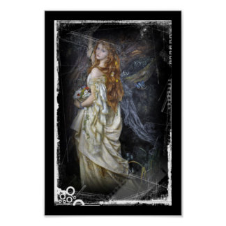 Ophelia in White Poster