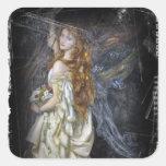 Ophelia in White Square Sticker