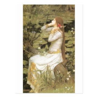 Ophelia  - John William Waterhouse  (1894) Postcard