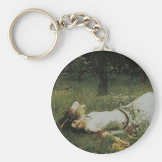 Ophelia [John William Waterhouse] Keychain