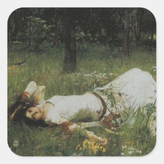 Ophelia [John William Waterhouse] Square Sticker