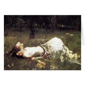 Ophelia Laying in the Meadow Greeting Card