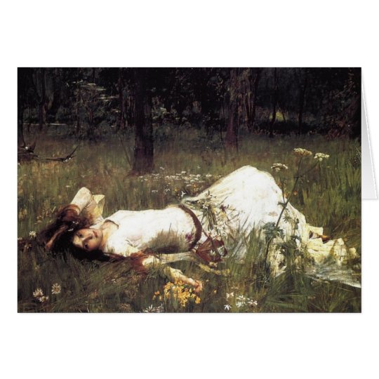 Ophelia Laying in the Meadow Card