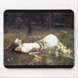 Ophelia Laying in the Meadow Mouse Pad