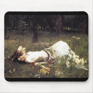 Ophelia Laying in the Meadow Mousepads