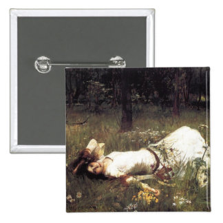 Ophelia Lying in the Meadow Pinback Button