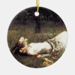 Ophelia Lying in the Meadow Christmas Tree Ornaments