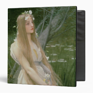 Ophelia (oil on canvas) 3 ring binder