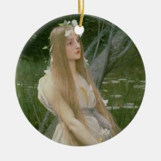 Ophelia (oil on canvas) ceramic ornament