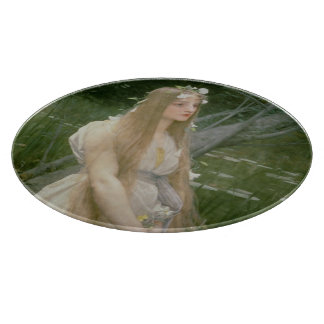 Ophelia (oil on canvas) cutting board