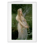 Ophelia (oil on canvas) greeting card