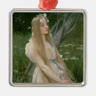 Ophelia (oil on canvas) metal ornament