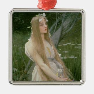 Ophelia (oil on canvas) metal ornament