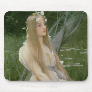 Ophelia (oil on canvas) mouse pad