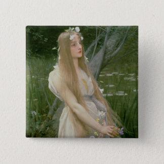 Ophelia (oil on canvas) pinback button
