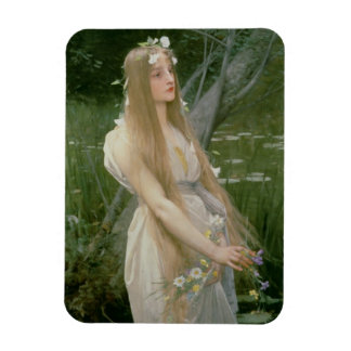 Ophelia (oil on canvas) rectangular magnet