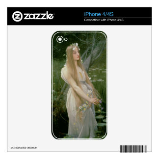 Ophelia (oil on canvas) iPhone 4S decal