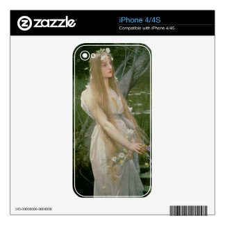 Ophelia (oil on canvas) decals for iPhone 4S
