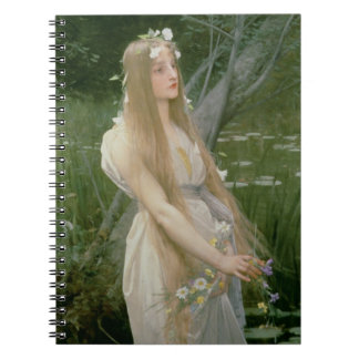 Ophelia (oil on canvas) spiral notebook