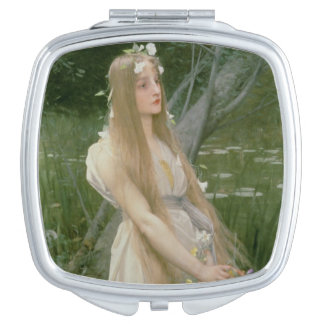 Ophelia (oil on canvas) vanity mirror