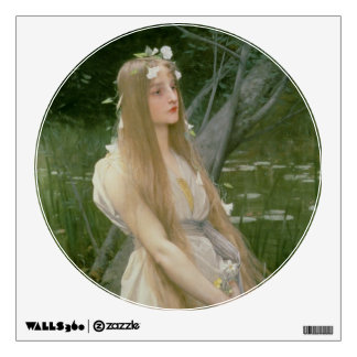 Ophelia (oil on canvas) wall graphic